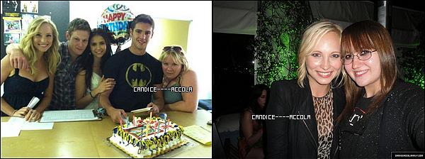 """Photos personnelles de Candice + Candids + Candice dans une vidéo !  Candice a posté sur son Twitter une photo d'elle et une fan + une photo de l'anniversaire de Steven + Candice a participé a une émition appelé """"1 minute hot seat"""" !"""