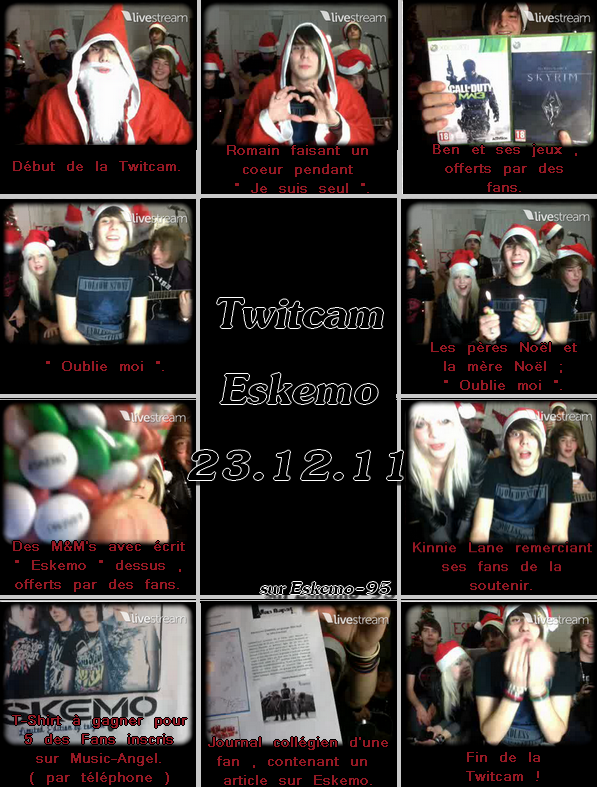 Eskemo - Twitcam  23 Décembre 2011