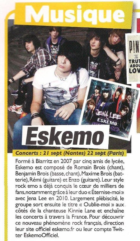 Eskemo - Article dans le magazine Teen people