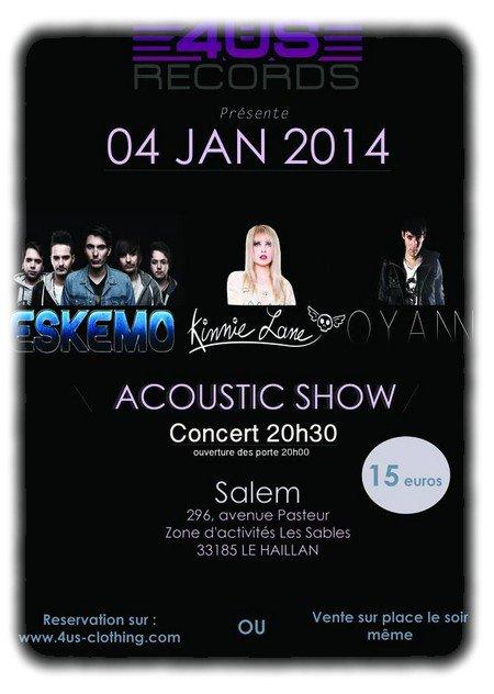 Eskemo, Oyann & Kinnie Lane en concert