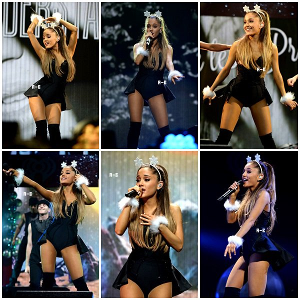 . 22/12/2014 :  Ariana performant au Y100's Jingle Bell Ball Show 2014 .