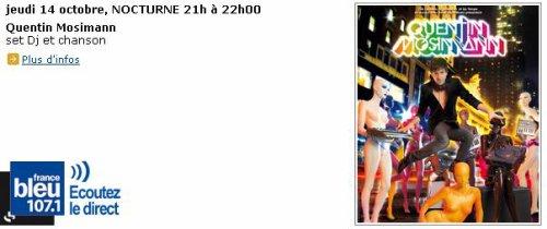 [14.10] RADIO : Nocturne à 21h00 sur France bleu 107.1