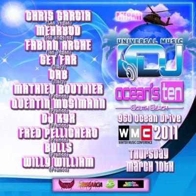 [10.03] CLUB : Universal DJ Party à Miami