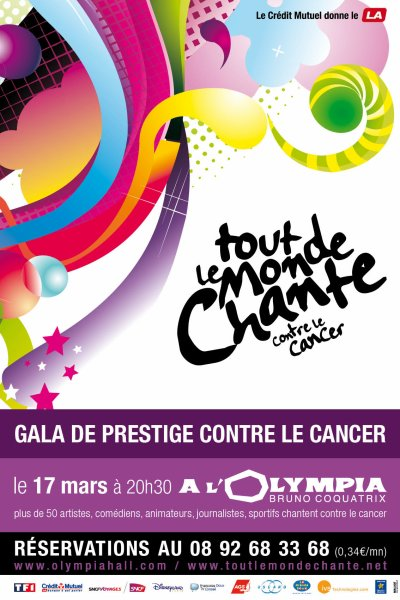 [17.03] CONCERT : Tout le monde chante contre le cancer à l'Olympia