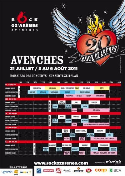 [31.07] CLUB : Rock Oz'Arènes à Avenches