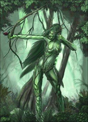 Créature cachée dans les bois