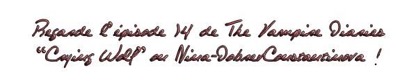 . THE VAMPIRE DIARIES s'invite sur Nina-DobrevConstantinova. .