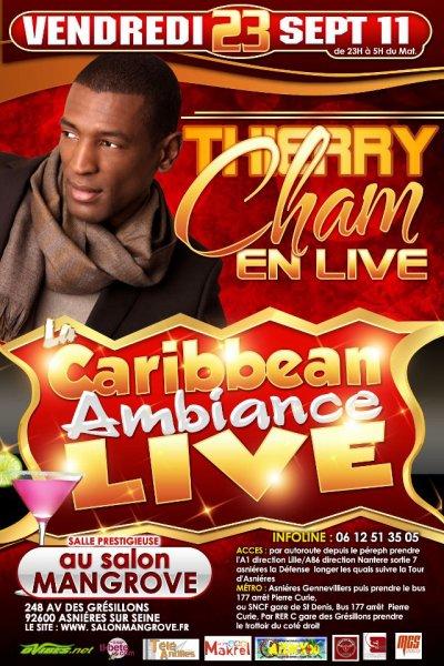 THIERRY CHAM EN LIVE A PARIS LE 23 SEPTEMBRE 2011