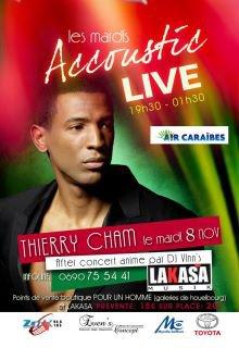 """""""Les Mardis Accoustik Live"""" moment de détente en toute convivialité à LAKASA  Le Mardi 8 Novembre dès 19 h 30 avec THIERRY CHAM :-)"""