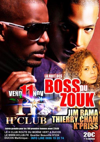 Thierry Cham Ce soir en Martinique à Ducos pour la nuit des Boss du Zouk au H'Club.