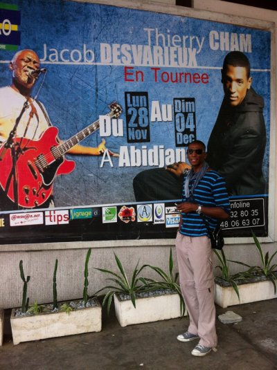 Thierry Cham à Abidjan en côte d'Ivoire