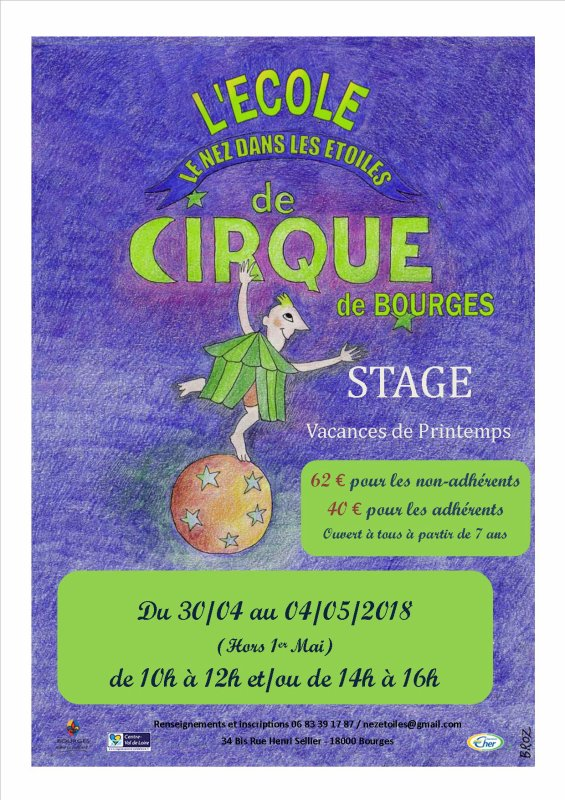 Inscriptions stages Printemps 2018