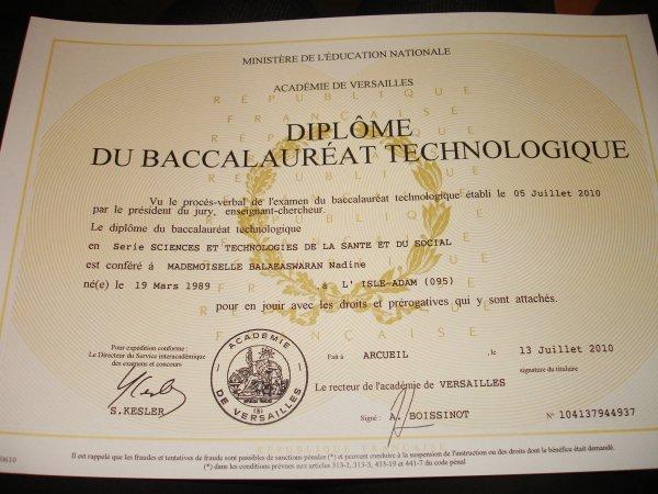 Remise des diplômes du baccalauréat !