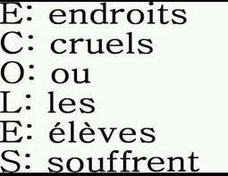 Ecoles :(