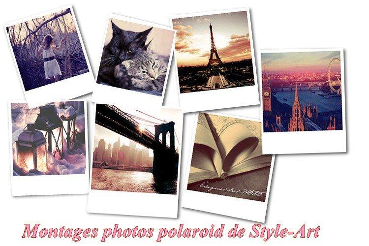 Montage polaroid sur photofiltre
