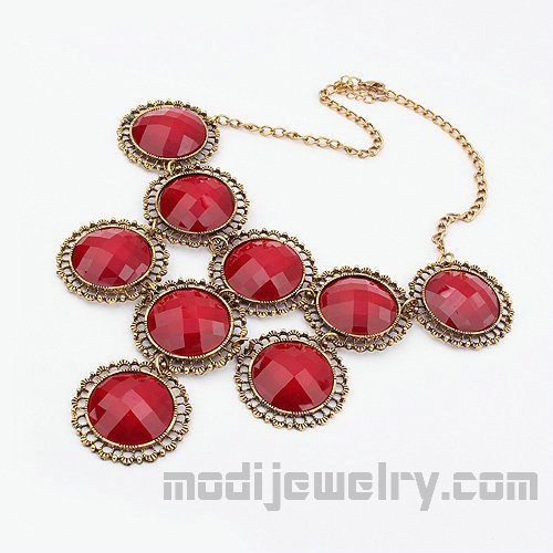 Fashion retro necklace red fashion necklaces vintage jewelry china fashion jewelry wholesale fashion jewellery
