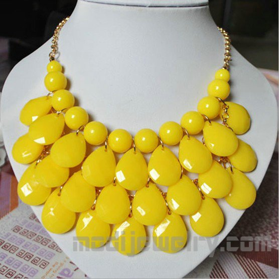 yellow multilayers fashion necklaces 2013 latest fashion jewelry fashion choker necklace latest fashion jewellery wholesale in china