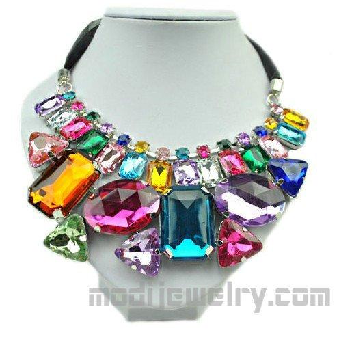 Irregular color stone necklace hotsale fashion necklace wholesale fashion jewellery china fashion jewelry online shop women fashion jewelry