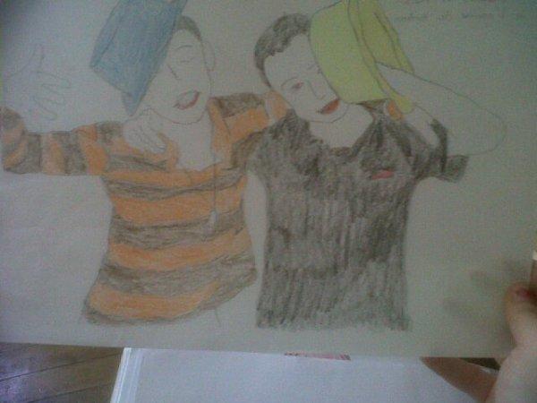 dessin de mon petit frere et d un amis