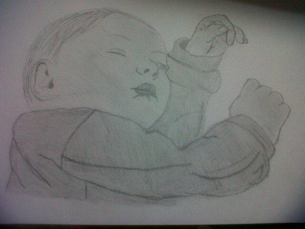 dessin d'un bebe fait par moi !!!