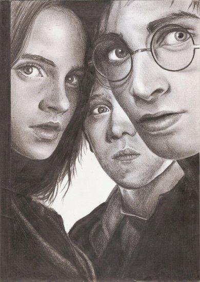 dessin d harry potter et de ses amis