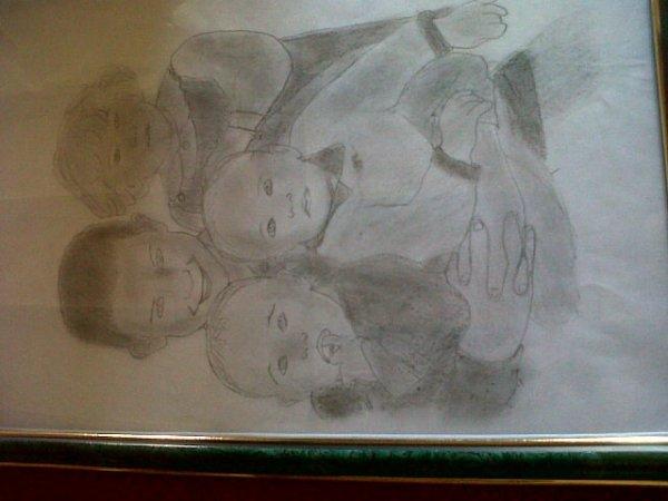 dessin de mes frere ma soeur  et moi quand on ete petit