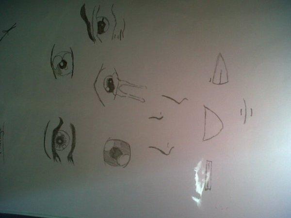 type de yeux,nez et bouche manga