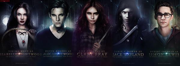 Isabelle , Alec , Clary , Jace et Simon