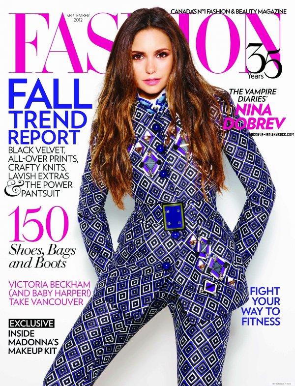Nina fera la couverture du magazine Fashion en septembre prochain