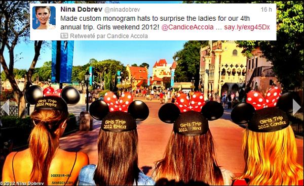 01.09.2012: Nina, Candice Accola et Kayla Ewell était à DisneyLand en Floride.