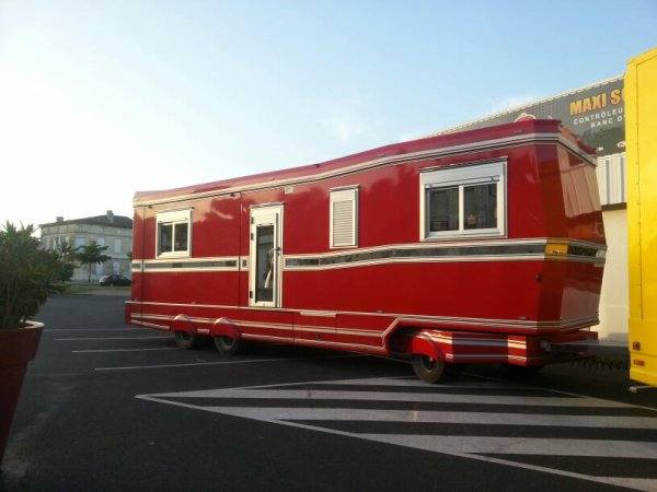 La nouvelle caravane est arrivé