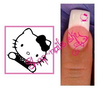 Stickers Ongle Nail art Hello Kitty 1