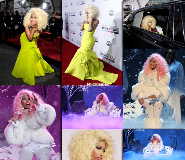 18/11/2012 : Nicki était au 40TH Anniversaire American Music Awards .