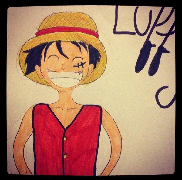 dessin de Luffy fait par moi