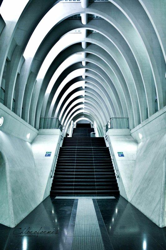 Gare des Guillemins, Liège, Belgique.