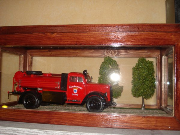 Vitrine du Opel Blitz Pompier