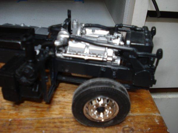 Renault magnum en chassis rallongé plateau