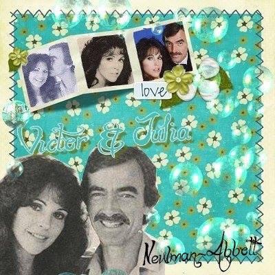 """Famille Newman  Julia Martin """" première femme de Victor"""" de 1977 à 1981"""