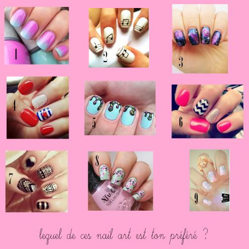 petit sondage nail art