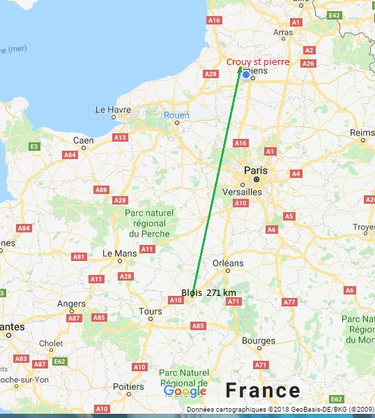 Le weekend prochain se seras Blois.