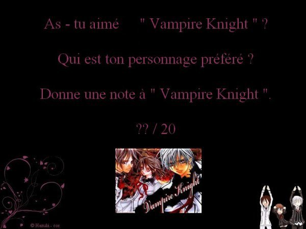 Résumé Vampire Knight