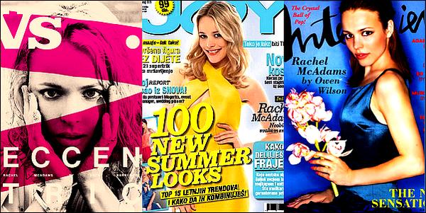. (Re)découvrez quelques magazines dont Rachel McAdams a fait la couverture !