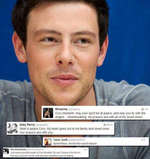 Les stars rendent hommage à Cory sur Twitter.