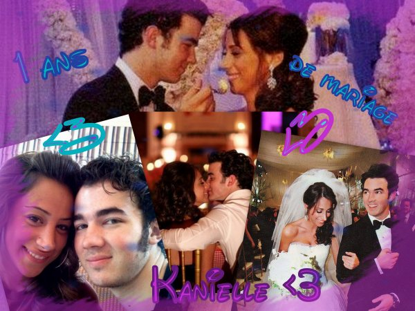 1 an de mariage de Kanielle (l)