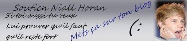 Soutien a Niall ♥