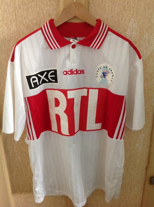 Maillot RC Lens coupe france 1998 vs Caen