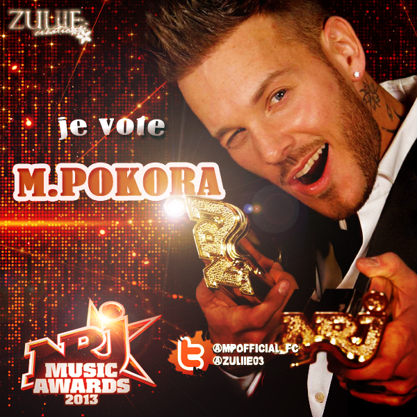 vous tes sur twitter et vous supportez m pokora pour les nrj music awards id e du m pokora. Black Bedroom Furniture Sets. Home Design Ideas