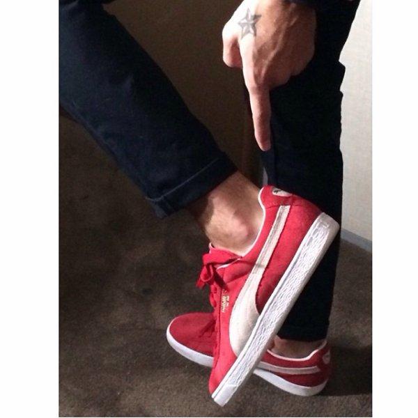 chaussure puma rouge m pokora