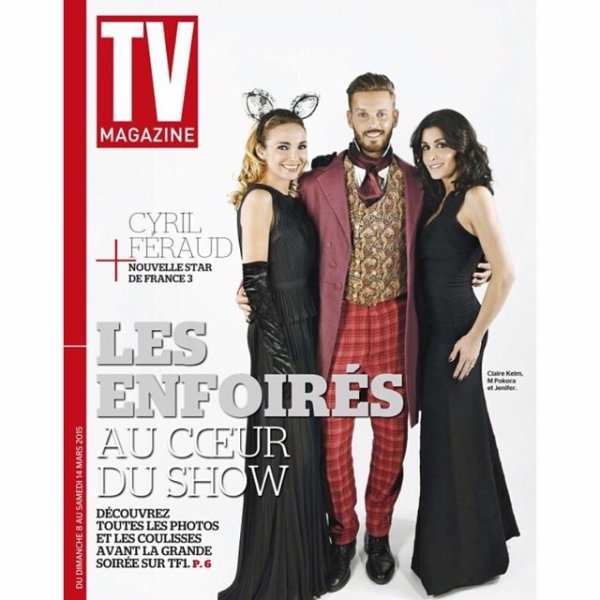 """En couv' du nouveau TV Magazine pour """"Les enfoirés"""" ... Vendredi prochain sur TF1! #enfoires2015 #restosducoeur #onestensemble"""