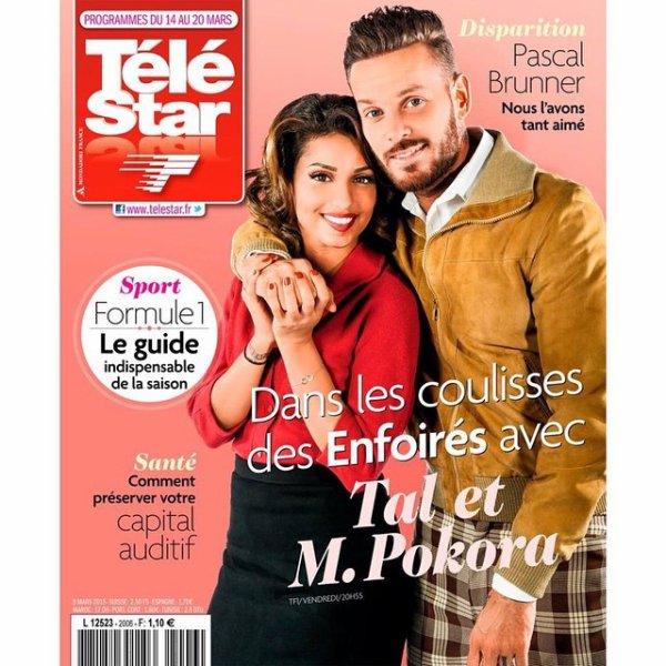 Et en couv' du nouveau Télé Star avec Taloushe... #enfoirés2015 #restosducoeur #onestensemble vendredi prochain sur TF1